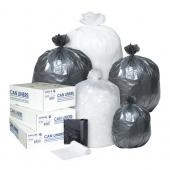 Inteplast High Density Roll Can Liner - 6 Micron - 24X33; 20 Rolls Per Case, 50 Bags Per Roll - Clear