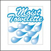 4X7 WSMT BLUE DROPLET MOIST TOWELETTE (1M)
