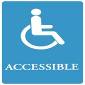 ADA SIGN, ACCESSIBLE-BL/WE, 6X9