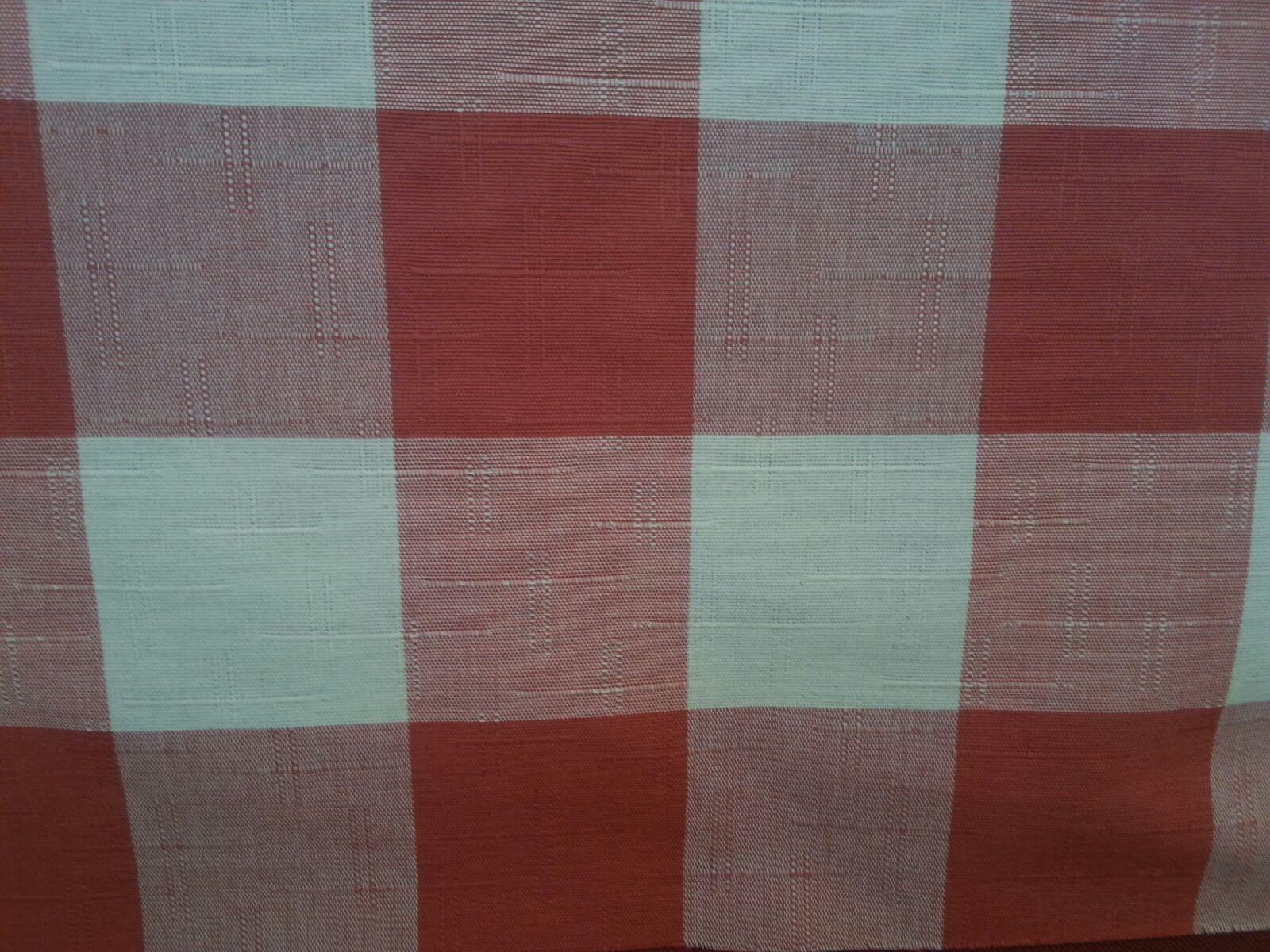 Tahoe Terry Poppy Buffalo Check Fabric