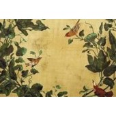 Heritage Windsong Cognac Bird Fabric