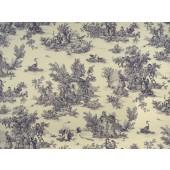Covington HL-Pastoral #91 Violet Toile Fabric