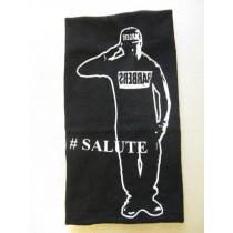 "Barber Salute Black Hand Towel 16"" x 30"""