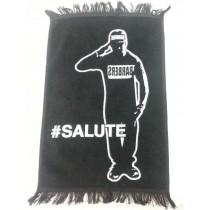 "Barber Salute Black Hand Towel 11"" x 18"""