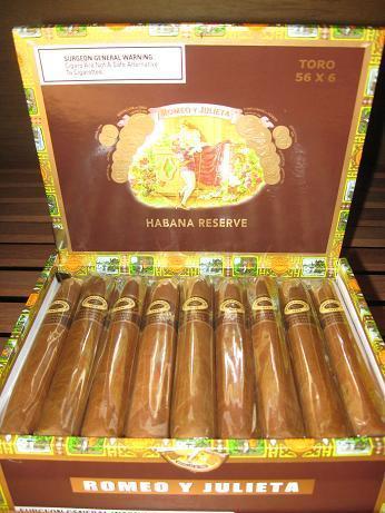 Romeo y Julieta Habana Reserve Toro 5 Pack