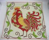 RED AND GREEN ROOSTER