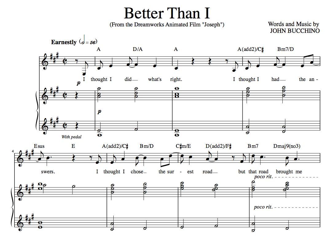 """Better Than I"" [Soaring anthem of faith] in A – Tenor"