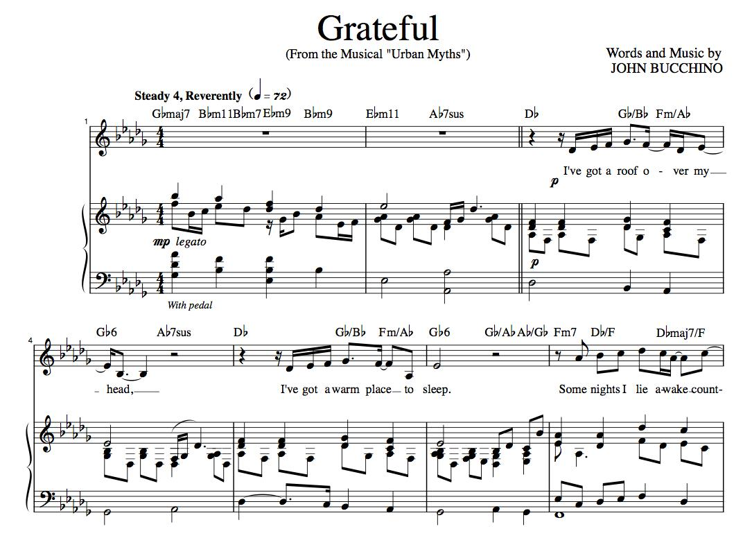"""""""Grateful"""" [An anthem of giving thanks] in Db – Baritone or Soprano"""