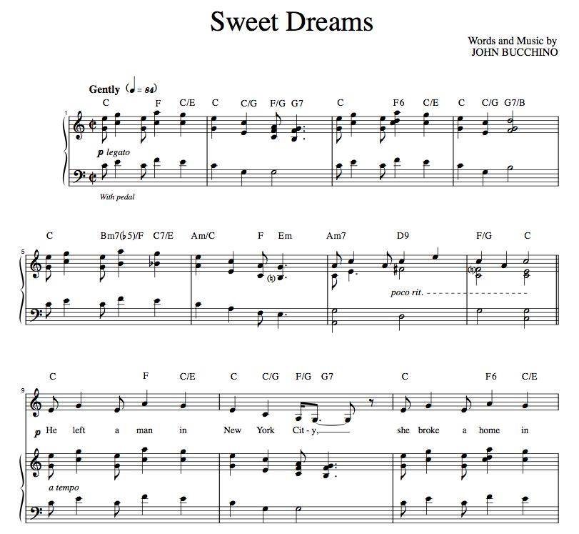 """""""Sweet Dreams"""" [Poignant story song] in C"""