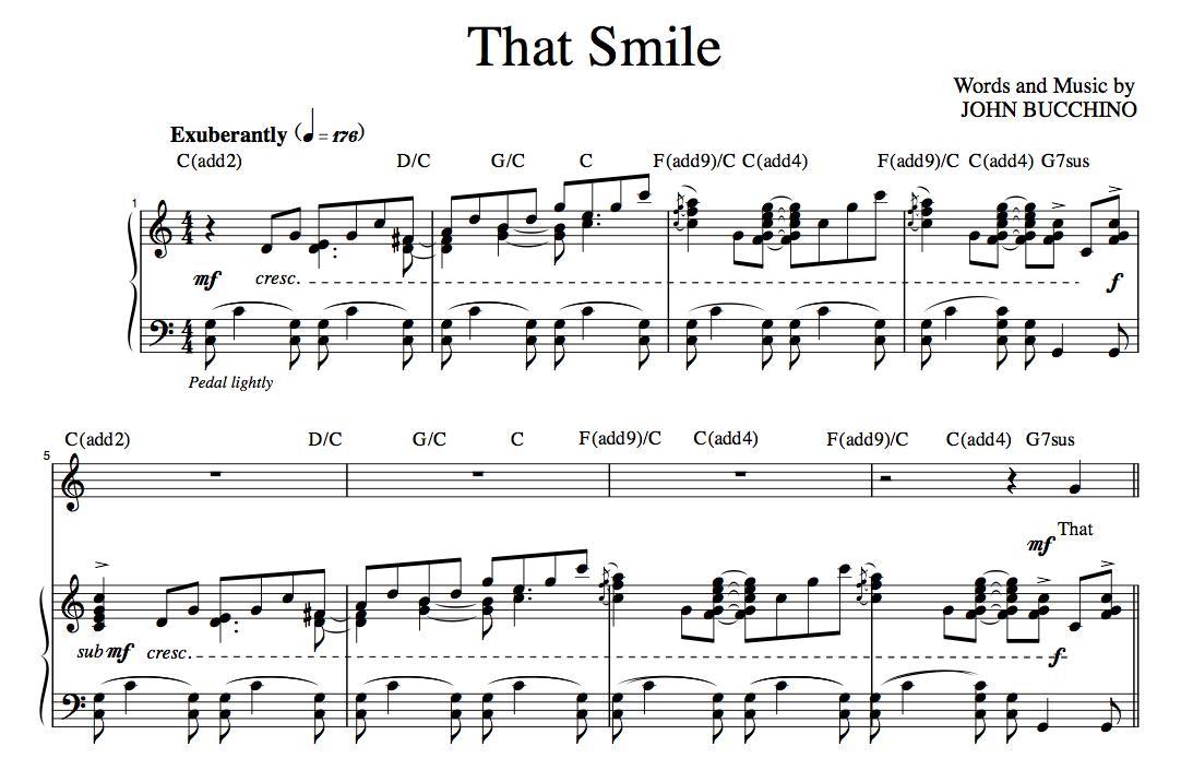 """That Smile"" [Joyful up-tempo] (Solo) in C"