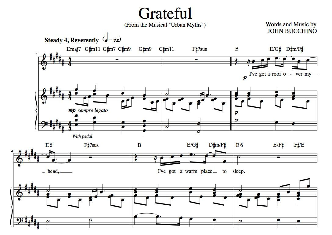 """""""Grateful"""" [An anthem of giving thanks] in B"""