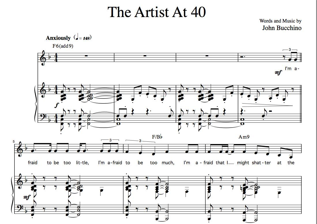 """The Artist At 40"" [Neurotic up-tempo] (Solo) in F"