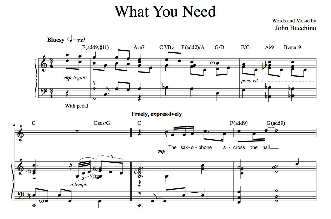 """What You Need"" [Plaintive ballad] in C"