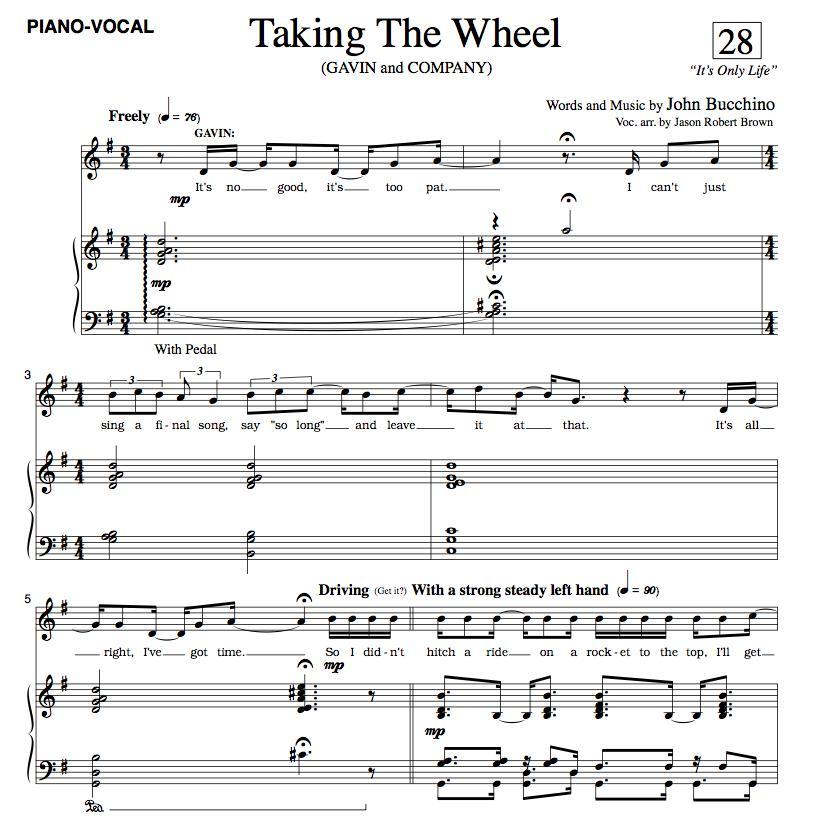 """""""Taking The Wheel"""" (SATB)"""
