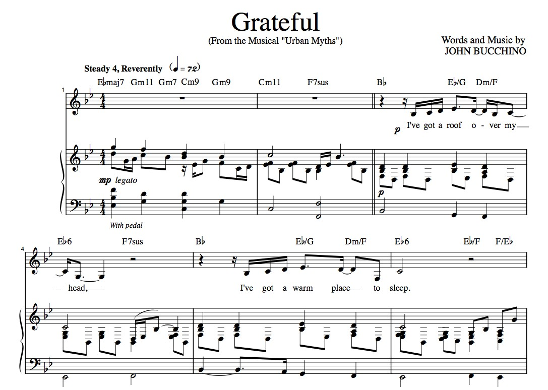 """Grateful"" [An anthem of giving thanks] in Bb – Bass or Alto"