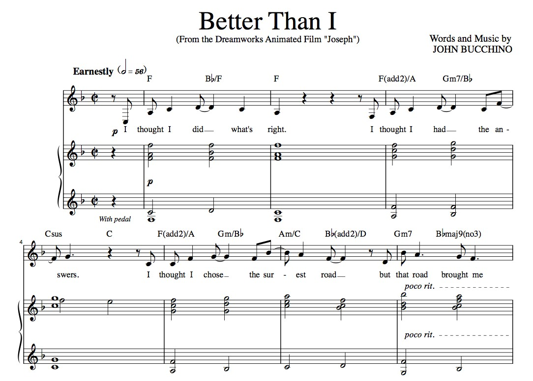 """Better Than I"" [Soaring anthem of faith] in F – Baritone or High Soprano"