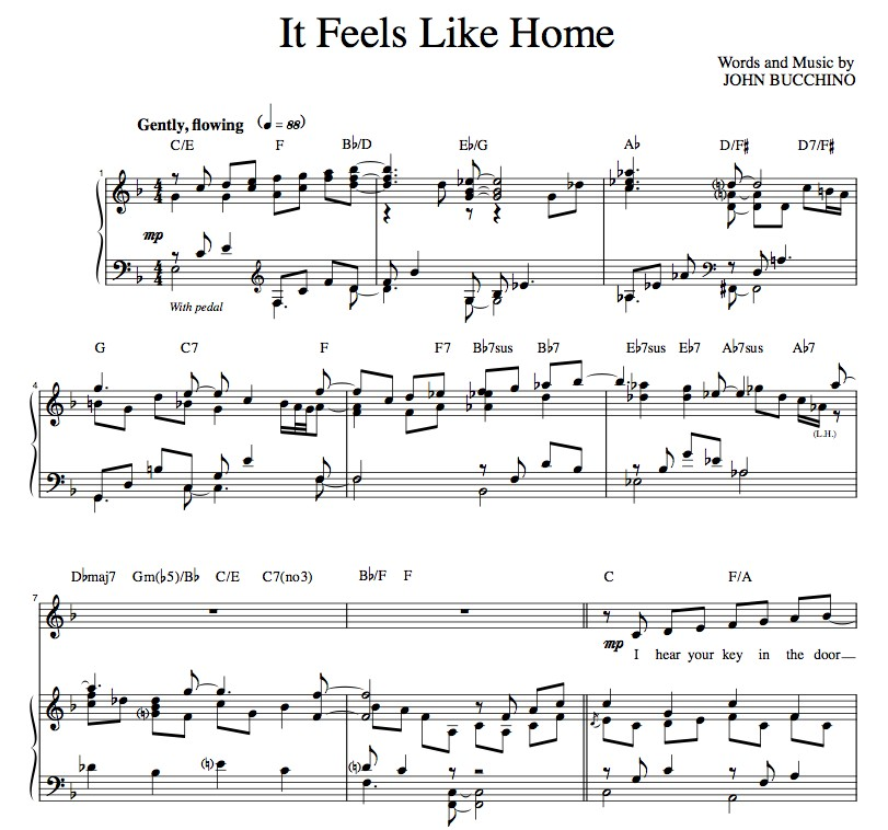 """It Feels Like Home"" [Sweet love ballad] in F"