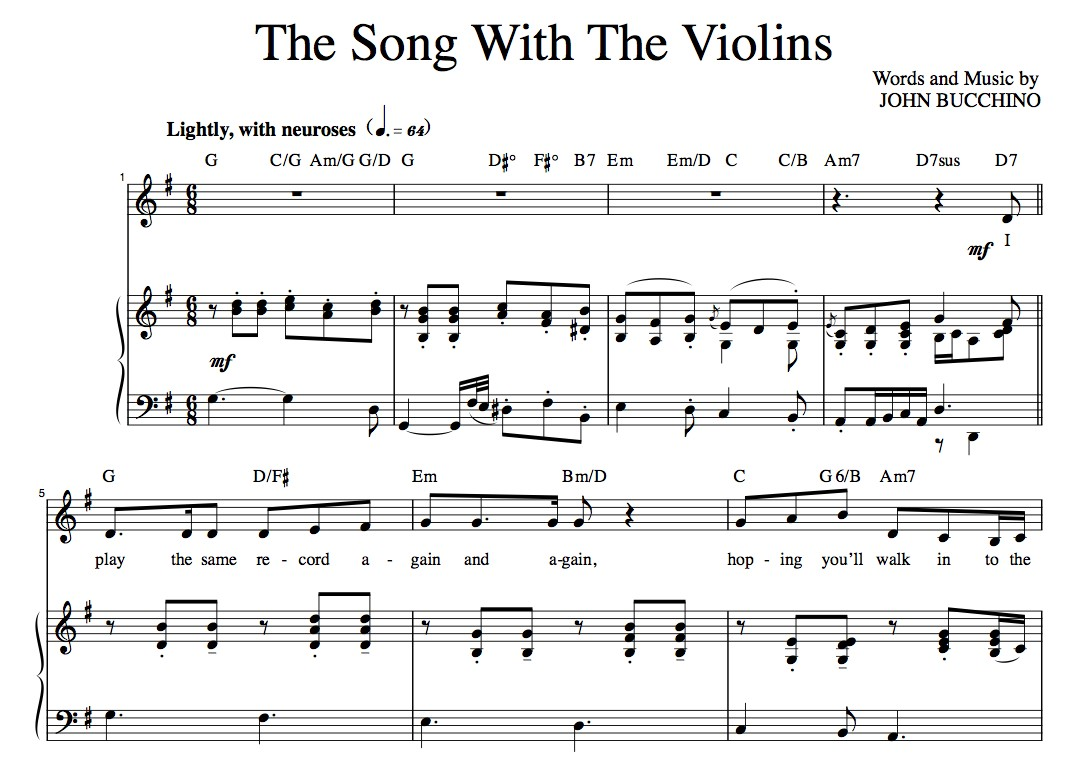 """The Song With The Violins""  [Light comedy song] in G"