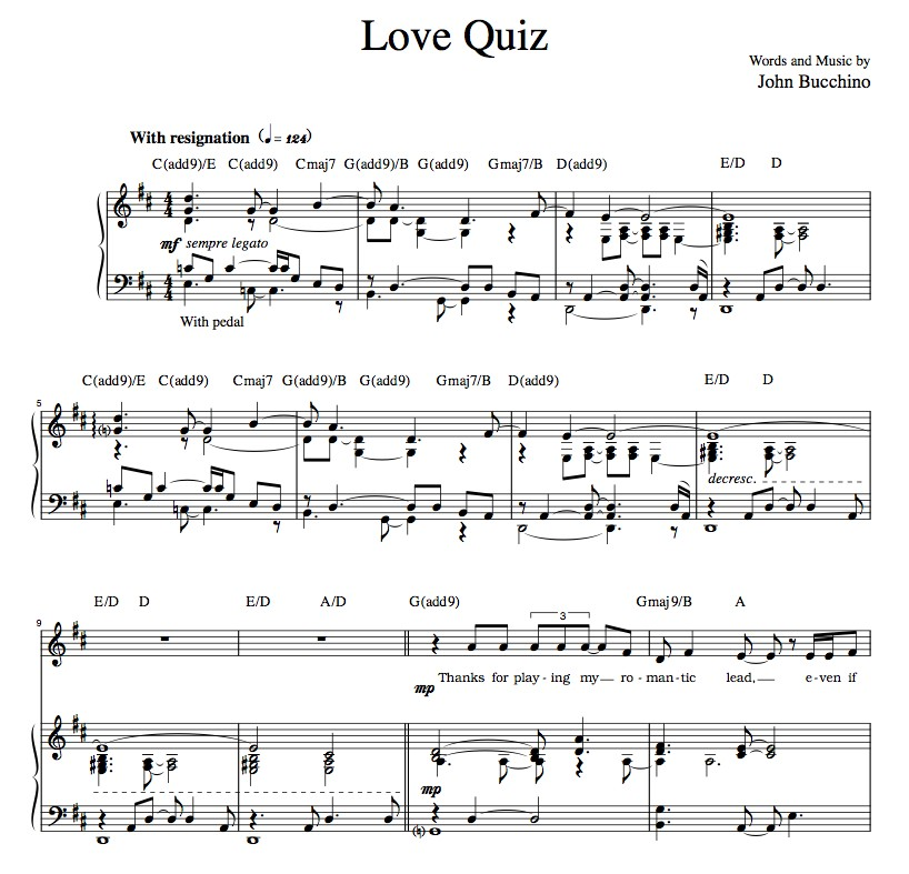 """Love Quiz"" [Reflective ballad] in D"