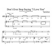 """Don't Ever Stop Saying 'I Love You'"" [Love ballad] (Duet for Soprano & Tenor) in F to A"
