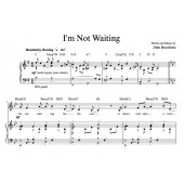 """I'm Not Waiting"" [Rueful ballad] (Solo) in G"