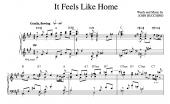 """It Feels Like Home"" [Sweet love ballad] in A – Tenor (""It's Only Life"" CD key)"