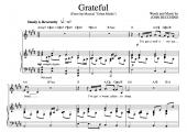 """Grateful"" [An anthem of giving thanks] in E – Baritone or High Soprano"