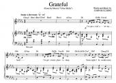 """Grateful"" [An anthem of giving thanks] in Db – Baritone or Soprano"
