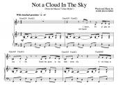 """Not A Cloud In The Sky"" [Medium-tempo acting piece] in F – Bass or Soprano"