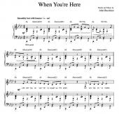 """""""When You're Here"""" [Sarcastic up-tempo] in Ab"""