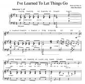 """I've Learned To Let Things Go"" [Wistful ballad] in A"