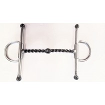 "1/4"" TWISTED WIRE SNAFFLE"