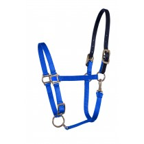 Nylon Stable Halters with leather or Beta crown & solid brass hardware