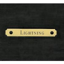 Brass Engraved Saddle Plate