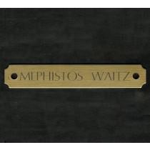 Brass Engraved Halter Plate