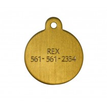 Brass Circle Engraved Tag - Small