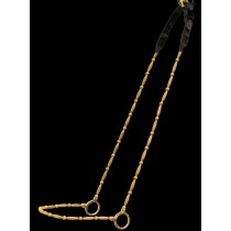All Gold Beaded Nose and Cheek Show Halter