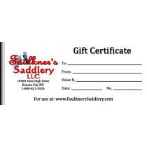 Faulkner's Saddlery Gift Certificate