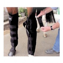 ICE HORSE Knee to Ankle Wrap (pair) with 12 Freezable Inserts