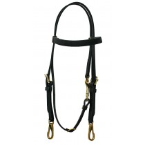 Beta Training Bridle w/Throat latch Snap.  Available in many colors