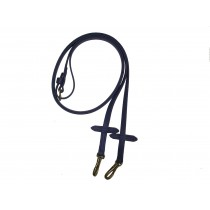 Beta Smooth  English Training Reins With Martingale Stops. Black or Brown.  Snaps or Buckles