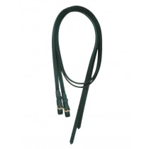 7' Split Super Grip Reins with Buckles.  Black or Brown.