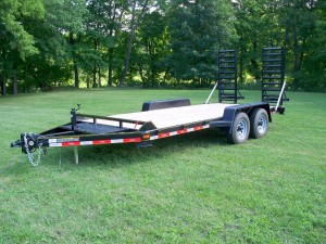 "C20-10 - 6'9"" x 20' Construction Trailer 9,990 GVW with wood floor"