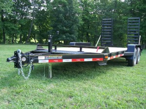 "C18-10 - 6'9"" x 18' Construction Trailer 9,990 GVW with wood floor"