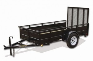 6' x 12' Economy Utility Trailer 2,990 GVW with solid steel sides