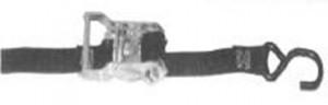 """1"""" x 20' Ratchet Strap  w/ wire hooks"""