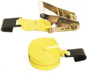 """3"""" x 30' Ratchet Strap Assembly w/ Flat Hooks"""