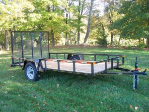 RTA610-3 - 6' x 10' Commercial Utility A Frame Trailer with 2,990 GVW & Wood Floor