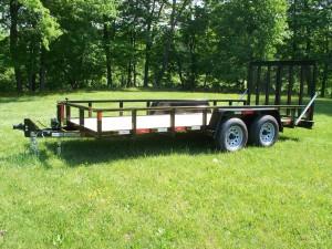U6x16LSS 6 x 16 commercial landscape trailer