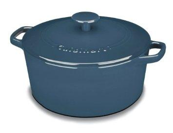 Cuisinart Chef's Classic 5 QT. Enameled Cast Iron Round Covered Casserole Collection Provencal Blue C1650-25BG